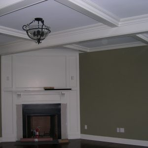 den ceiling and walls painted