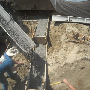 making cement for house foundation