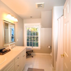 white painted bathroom