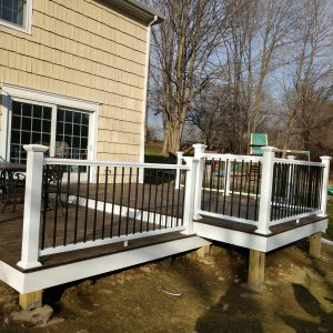 deck railing painting