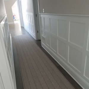 wainscot installation and painting