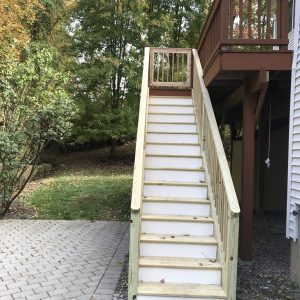 deck stair and gate replacement